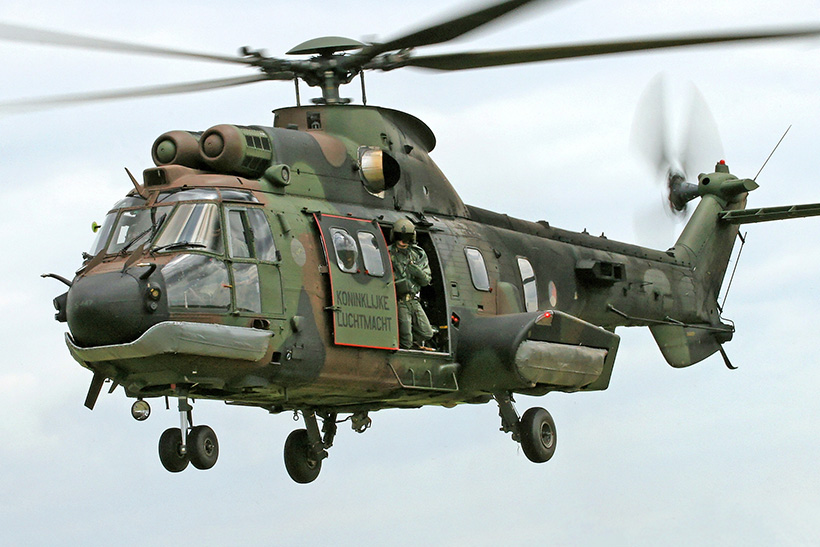Netherlands AS532 Cougar helicopter