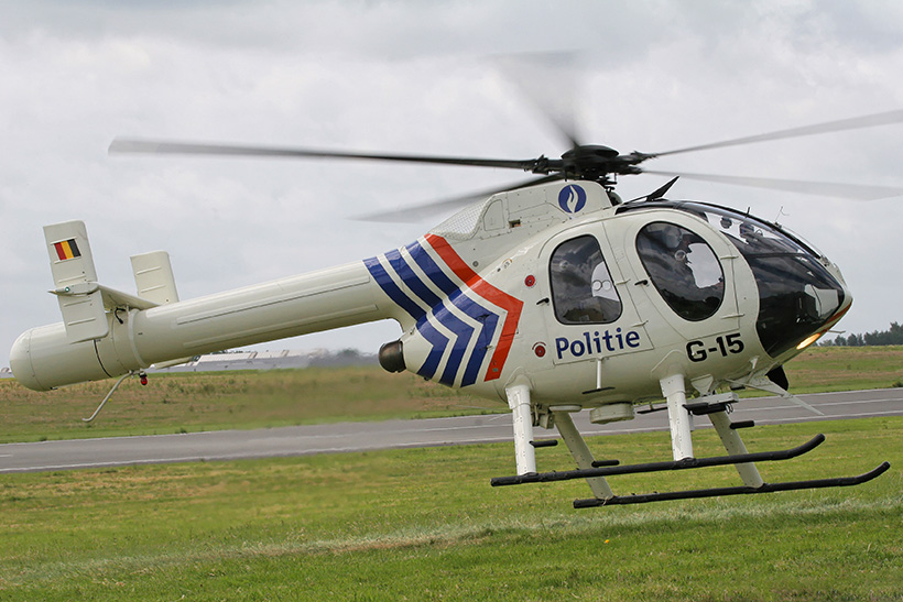 Belgian Federal Police MD520N helicopter