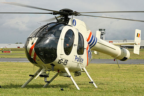 Hélicoptère MD520N Explorer Police belge