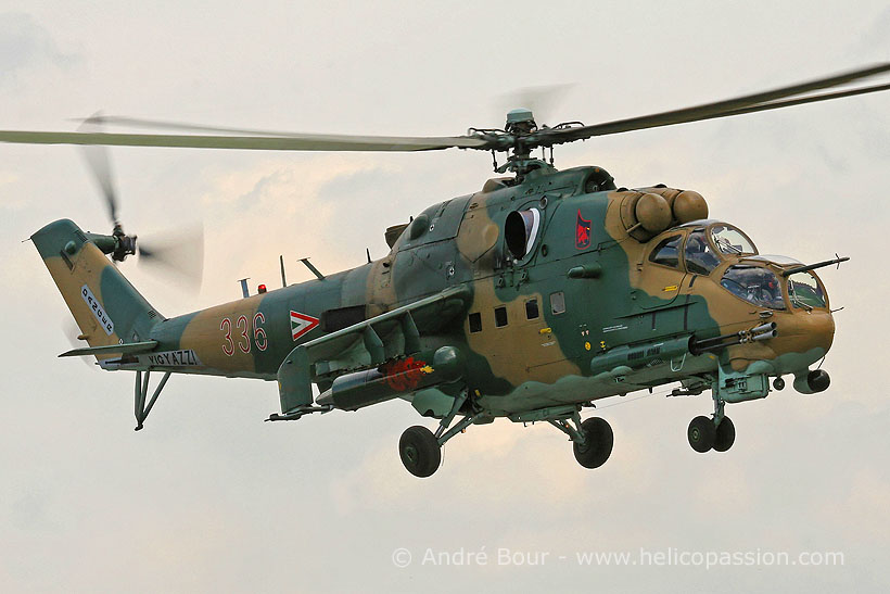 Hungarian Army MI24 Hind F helicopter