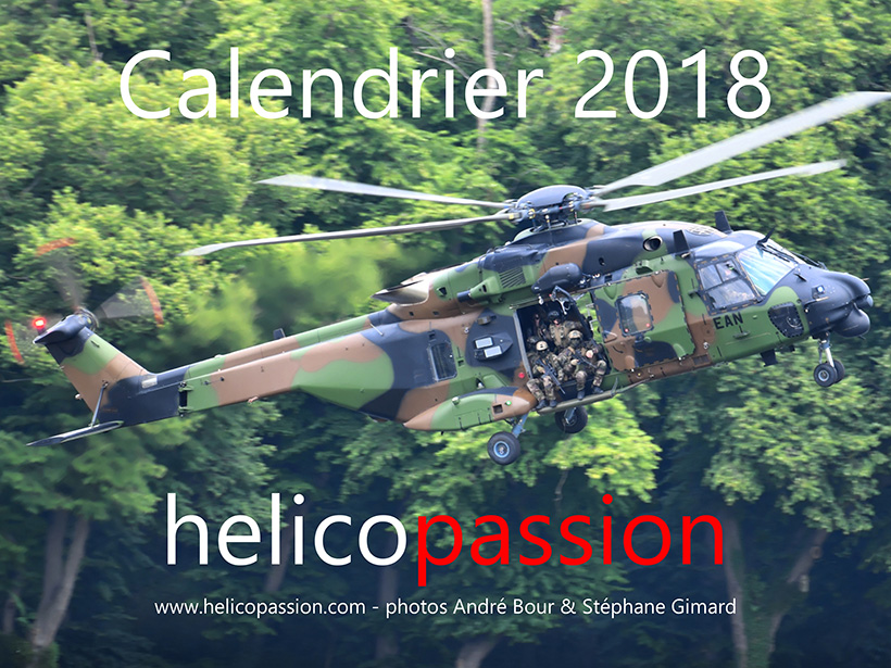 Calendrier 2018 HELICO PASSION