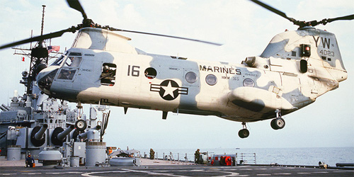 Hélicoptère CH46 Seaknight des US Marines