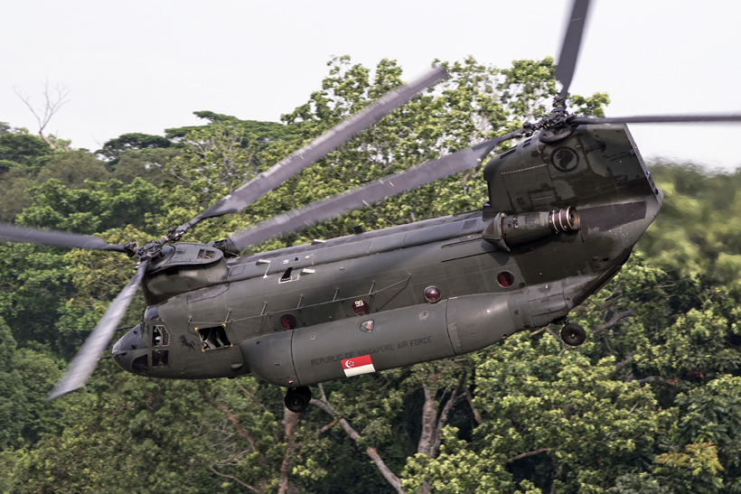 Singapore Army CH47 Chinook helicopter