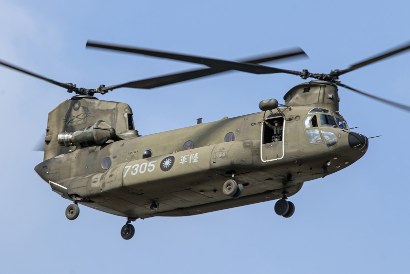 Taïwan Army CH47F Chinook helicopter