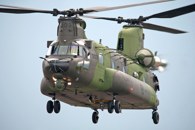 CH147F Chinook helicopter of the Army of Canada