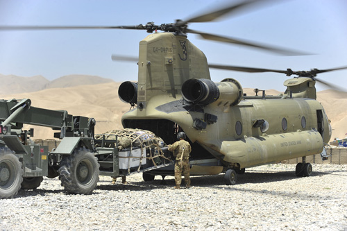 Hélicoptère CH47 ChinookF US Army Afghanistan