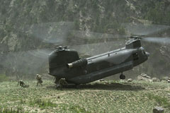 Hélicoptère CH47D Chinook US Army Afghanistan