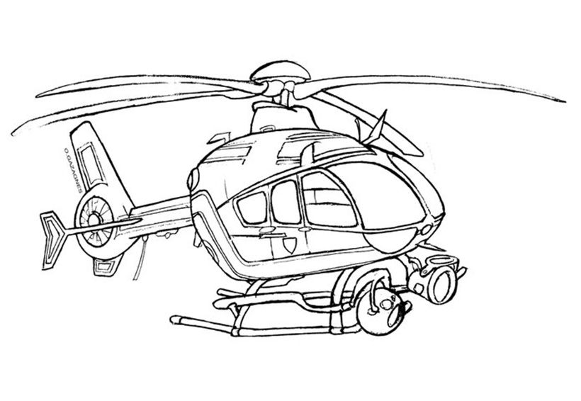 Coloriages D Hélicoptères Pour Les Enfants Helico Passion