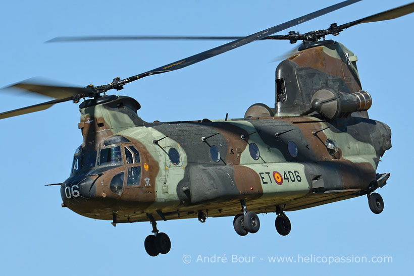 Spanish FAMET CH47 Chinook helicopter