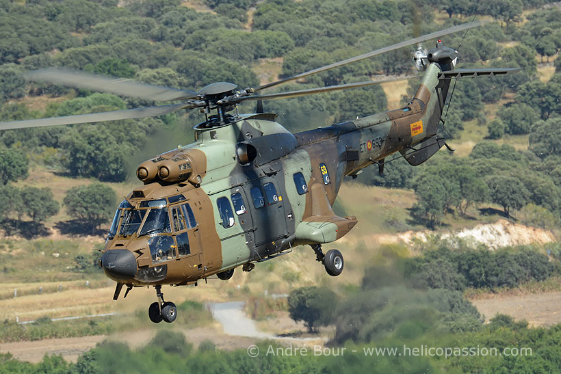 Spanish FAMET AS532 Cougar helicopter