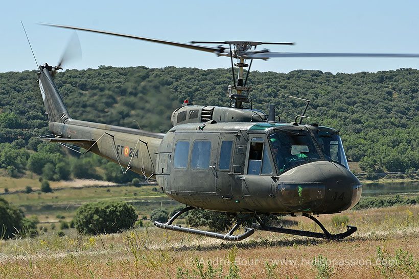 Spanish FAMET UH1H Huey helicopter