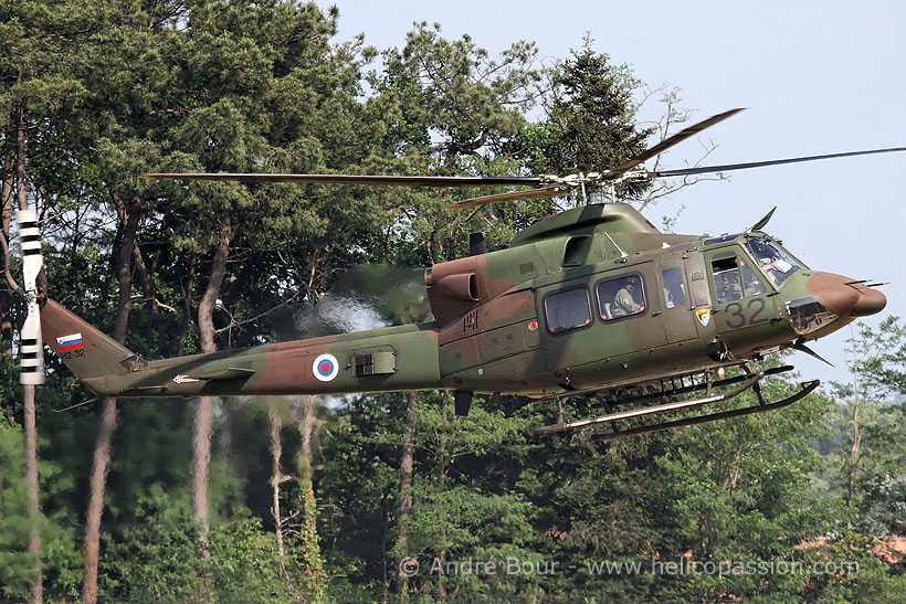 Slovenian Army Bell 412 helicopter