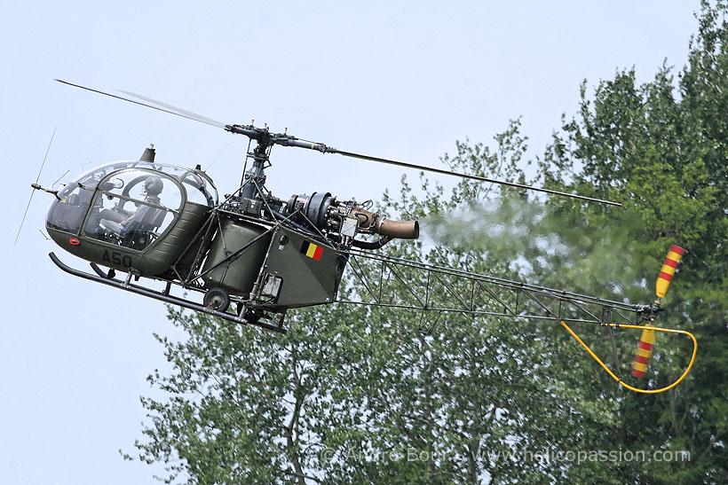 Belgian Army Alouette II helicopter