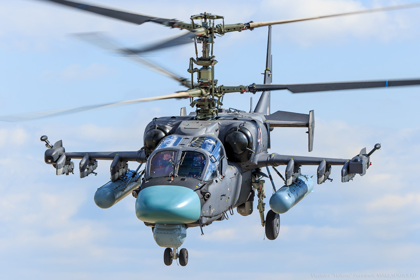 "KA52 ""Alligator"" attack helicopter of the Army of Russia"