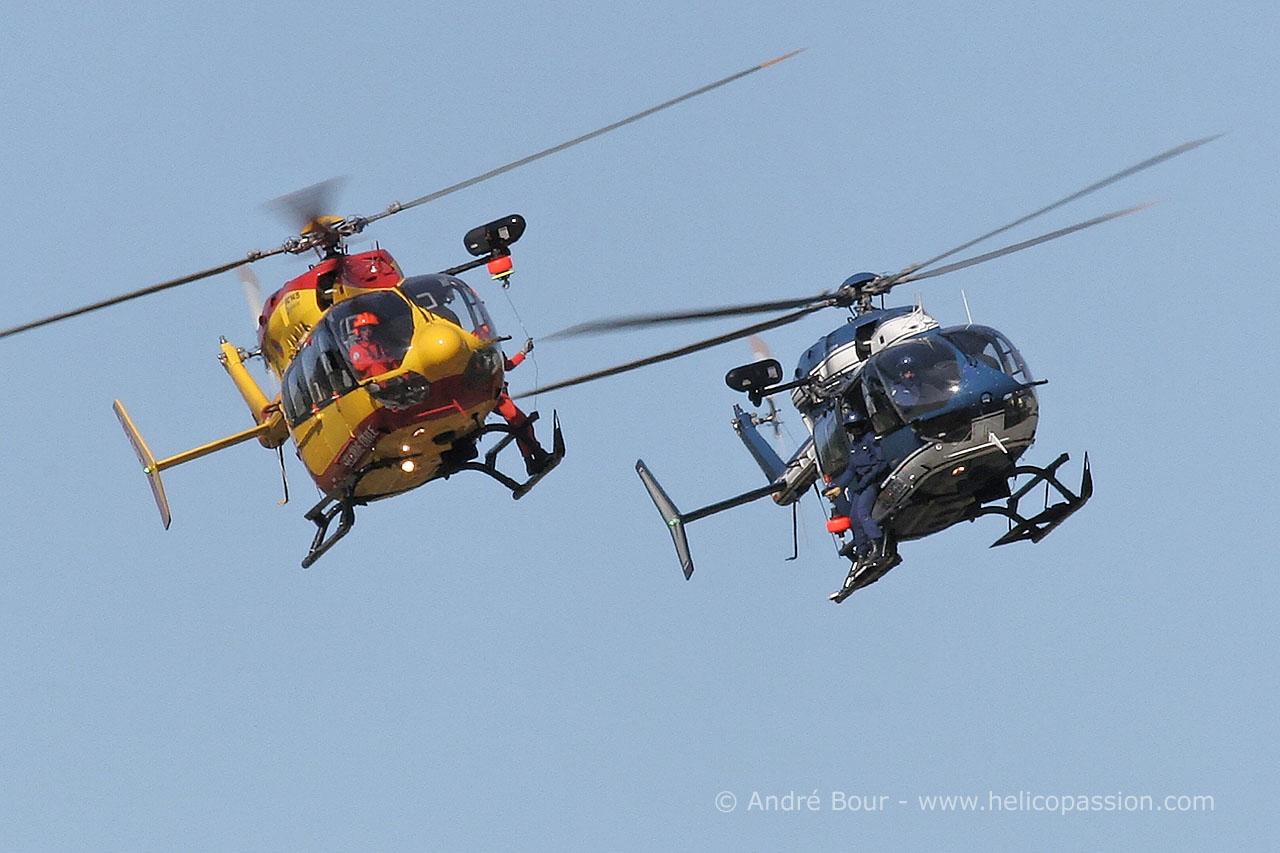 Helico passion le luc 2007 ec145 s curit civile et gendarmerie nationale - Helicoptere jaune et rouge ...