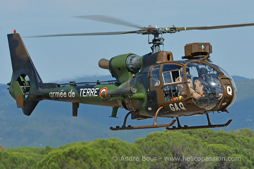 French Army SA342 Gazelle HOT helicopter