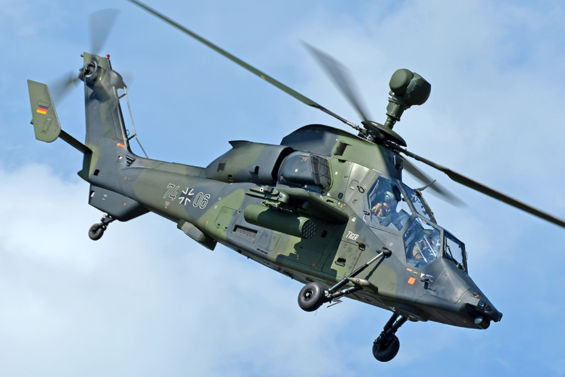 German army EC665 Tiger KHS helicopter