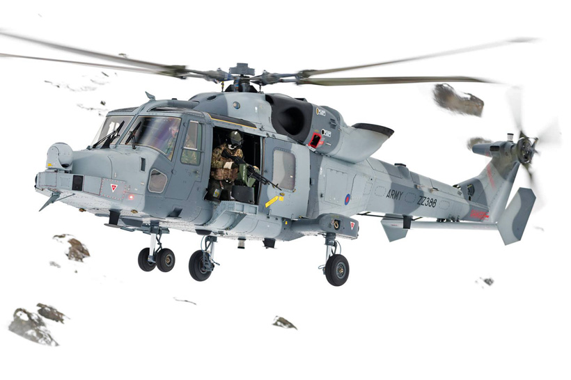 British Army Air Corps AW159 Wildcat helicopter