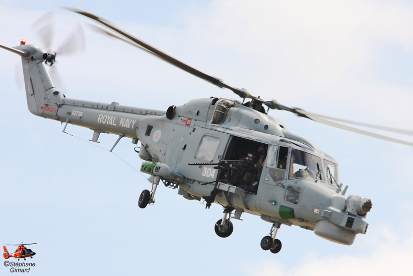 British Royal Navy Lynx HAS Mk8 helicopter