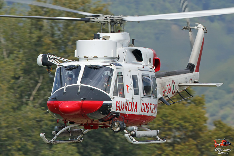 Italian Guardia Costiera AB412 helicopter