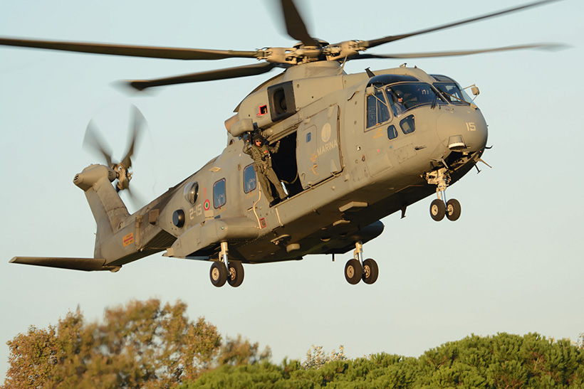 Italian Navy AW101 helicopter