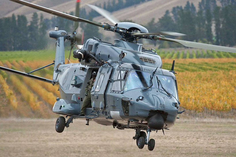 NH90 helicopter of the Army of New Zealand