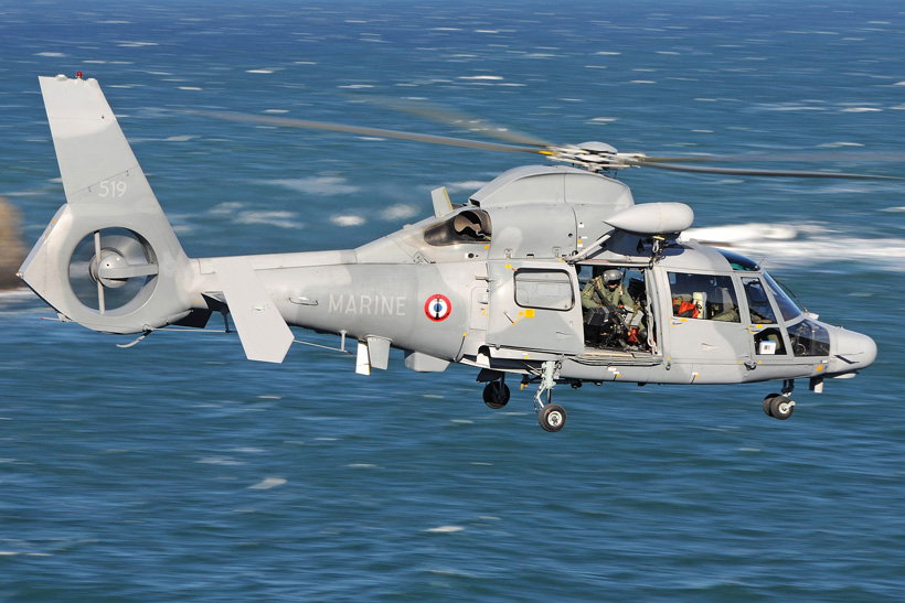 French Navy AS532 Panther helicopter