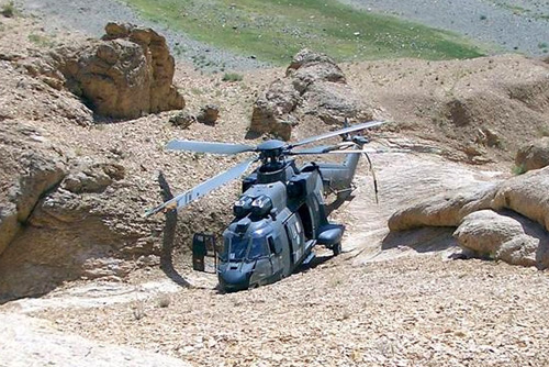 Crash Cougar en Afghanistan