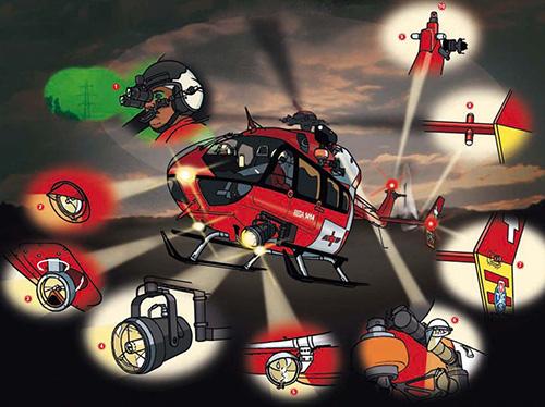 Les technologies pour le vol de nuit en hélicoptère