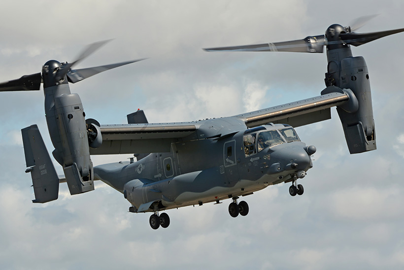 USAF Special Operations CV22 Osprey convertible