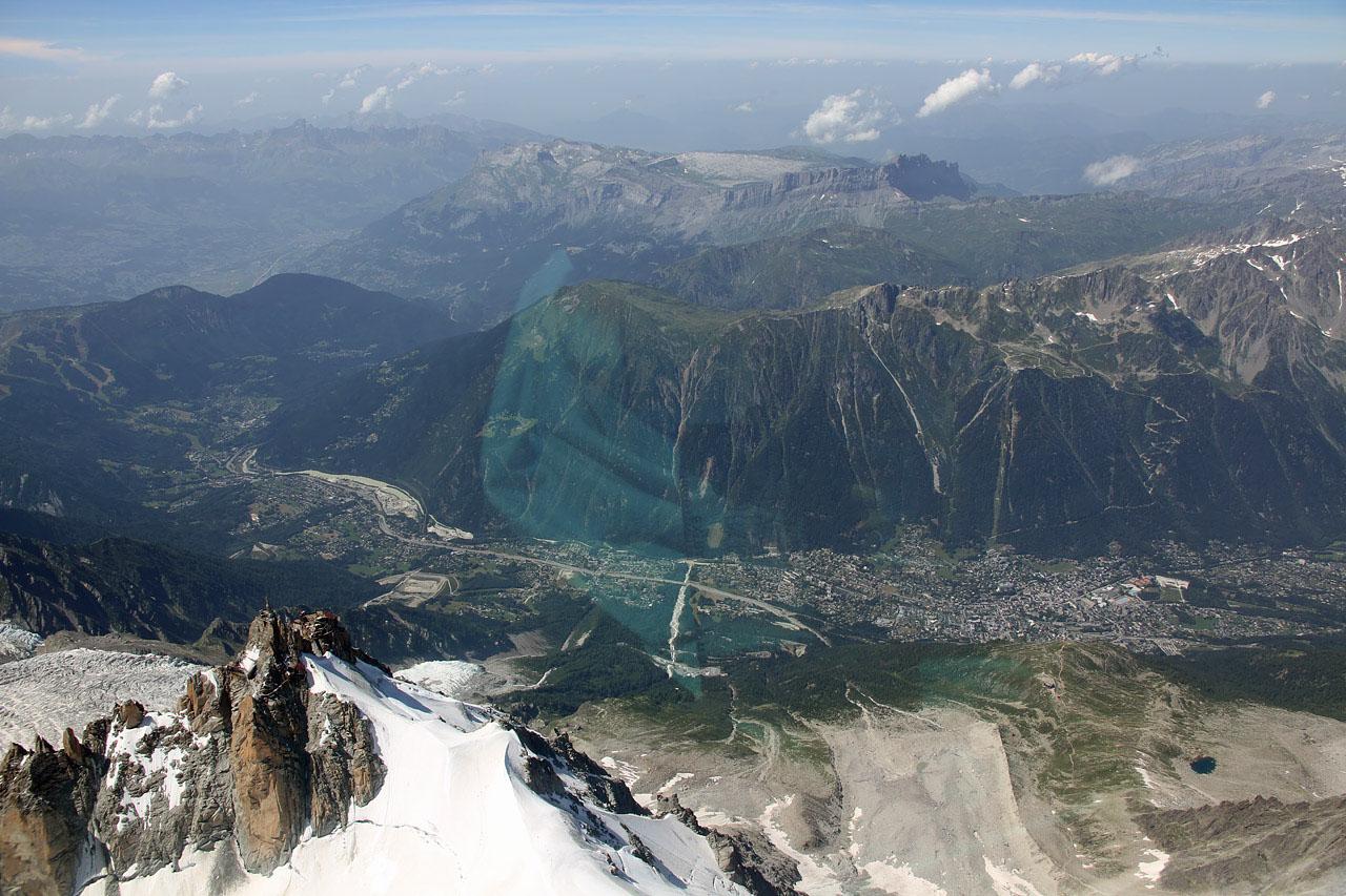 helico vol au dessus du mont blanc