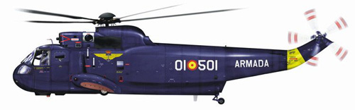 Hélicoptère S61 Seaking, Espagne