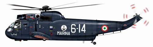 Hélicoptère S61 Seaking, Italie