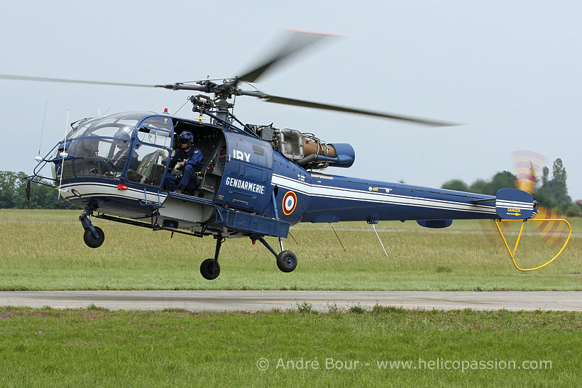 French Police Alouette III helicopter