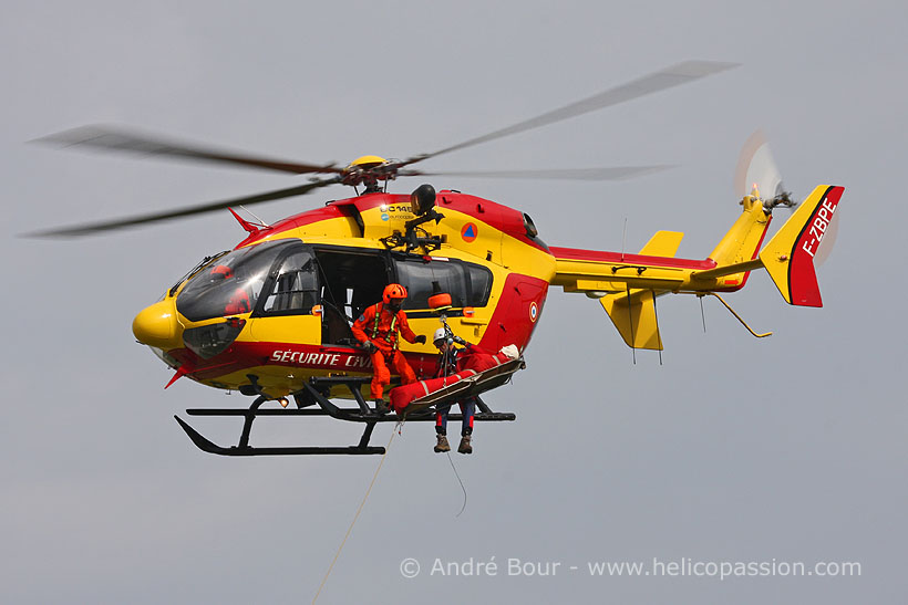 French civil security EC145 helicopter