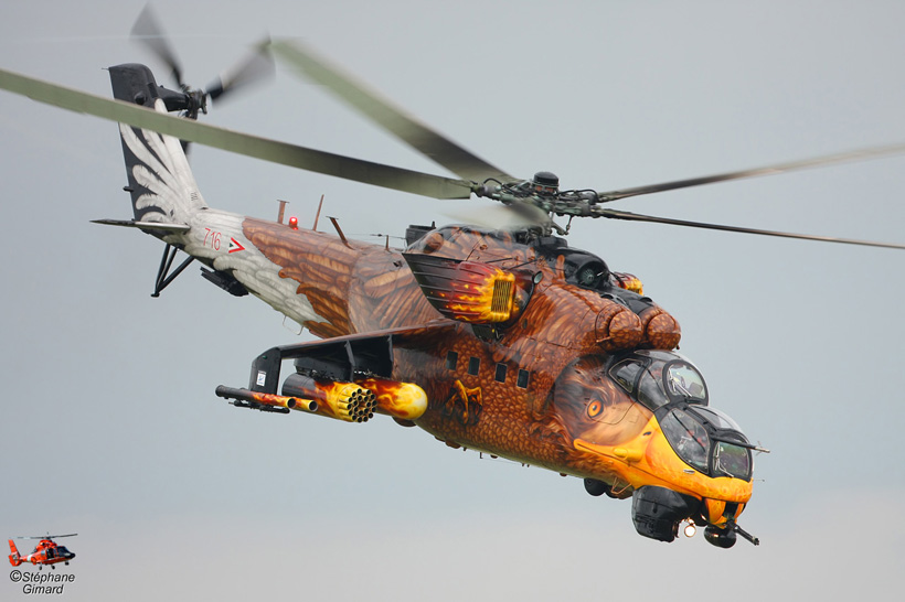 Hungarian Army MI24 Hind D helicopter