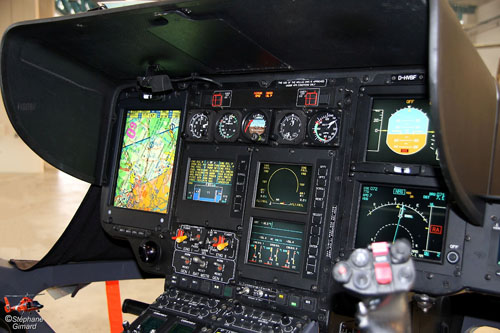 Cockpit EC135 BundesPolizei