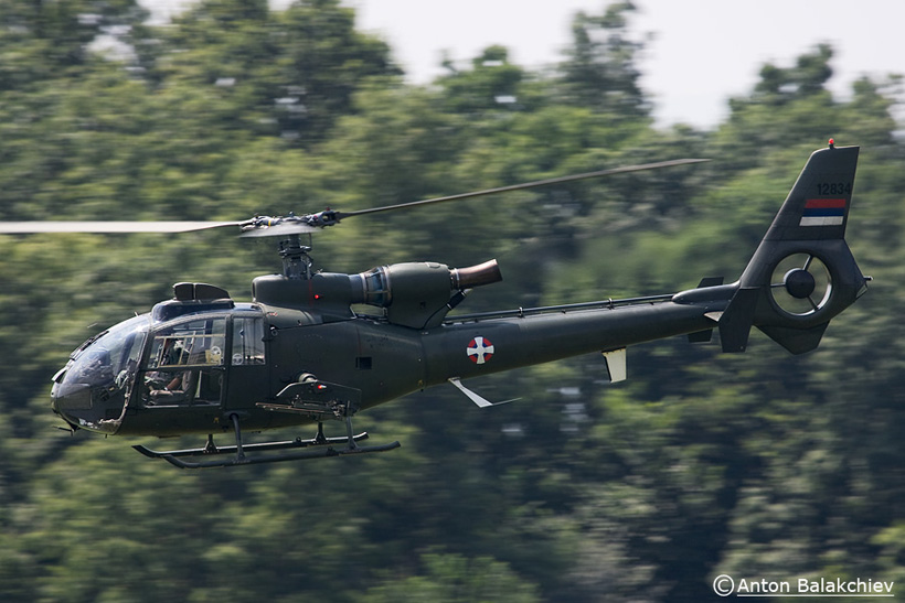 Serbian Army SA342 Gazelle helicopter