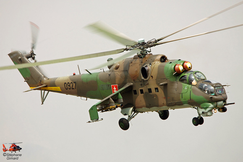 Slovak Army MI24 helicopter