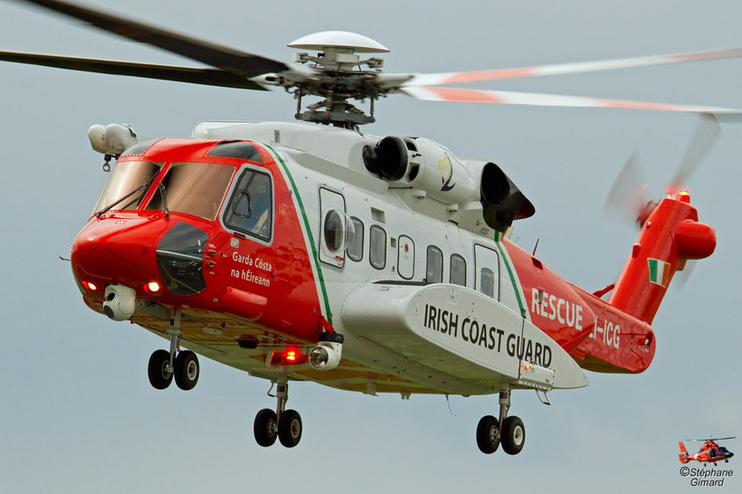 Irish Coast Guard S92 helicopter