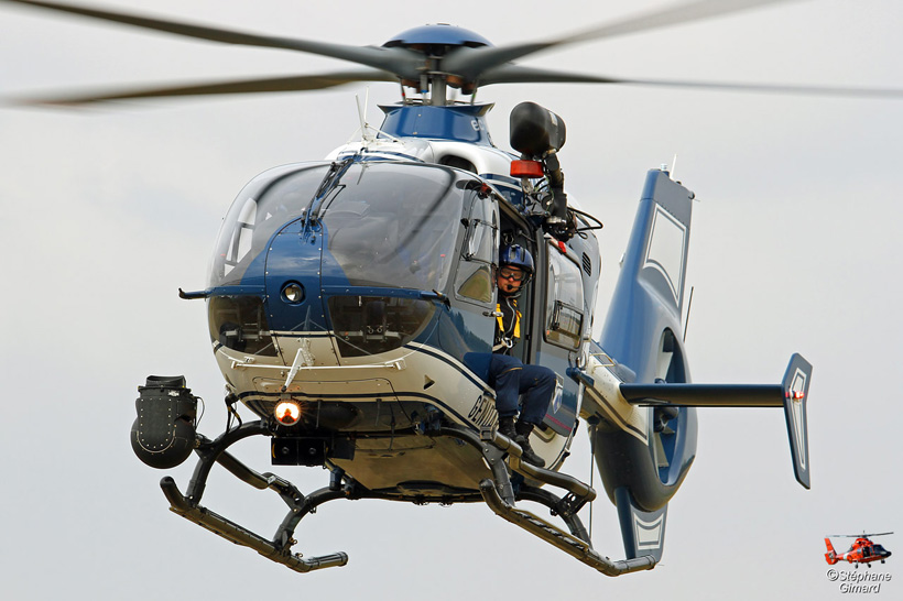 French Police H135 helicopter