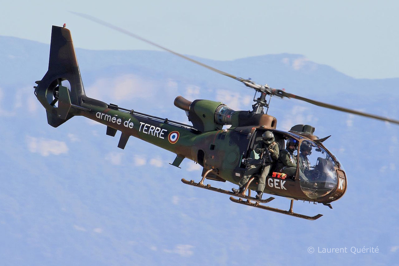 French Army Aviation (ALAT) SA342 Gazelle helicopter