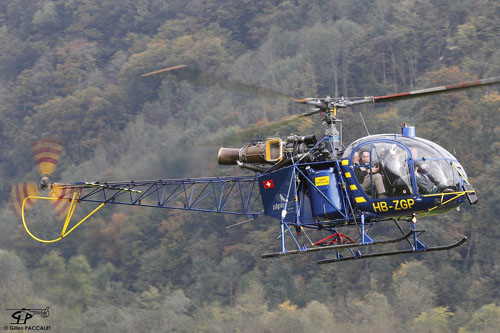 Hélicoptère SA315 Lama HB-ZGP d'Alpinlift Helikopter