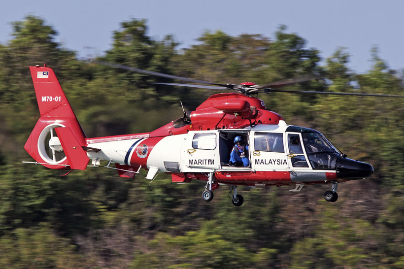 AS365 N3 Dolphin helicopter of the Coast Guards of Malaysia