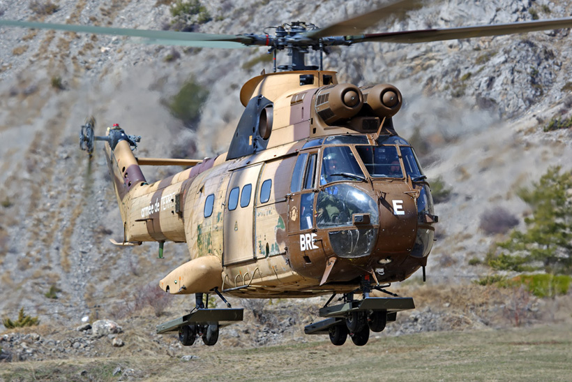 French Army SA330 Puma helicopter