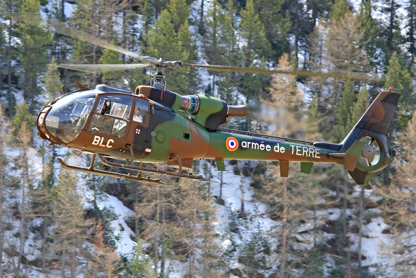 French Army SA342 Gazelle helicopter