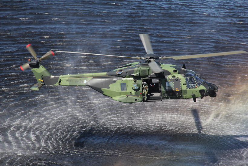 Finnish Army NH90 helicopter
