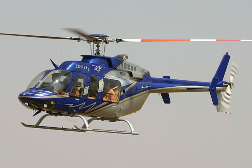 Hélicoptère Bell 407 ZS-RVX d'HELIOS EXECUTIVE HELICOPTER CHARTER
