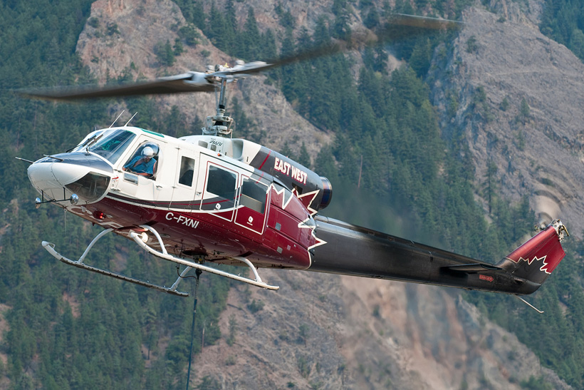 Canadian Bell 214 helicopter