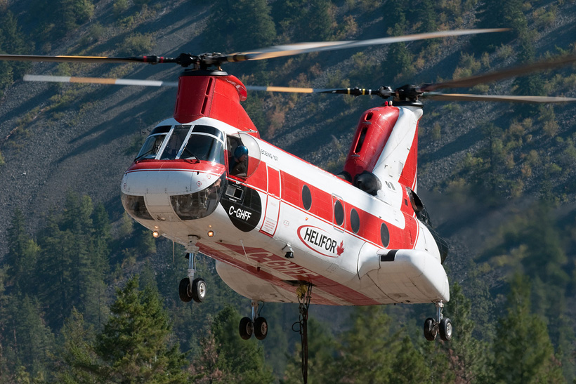Canadian CH46 Seaknight helicopter